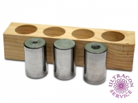 Calibration blocks for surface flaw detection (cylindrical shape)